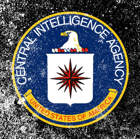 fbi:  of The Central Intelligence Agency of the United States of America with heavy grunge effect