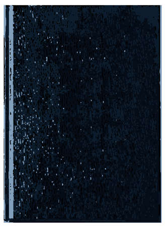 book case: A blank blue front cover of a book