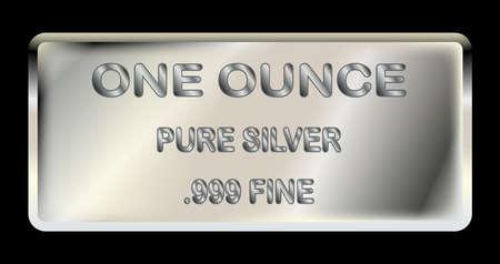ingot: A one ounce ingot of fine silver