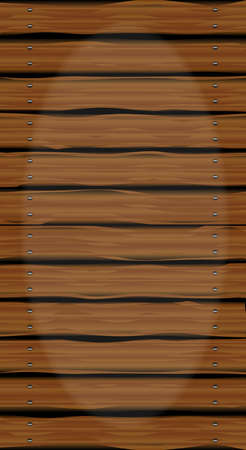 walkway: A wooden walkway made of softwood planks showing the wood grain. Illustration