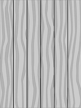 softwood: A grey timber fence made of softwood planks showing the wood grain. Illustration