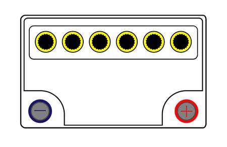 volt: A rypical 6 cell 12 volt car battery
