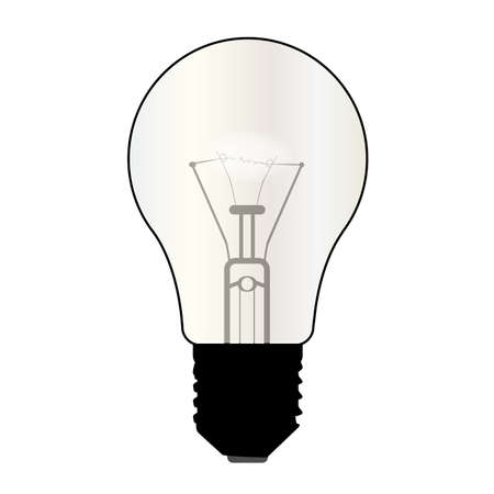 kilowatt: A typical standard light bulb over a white background