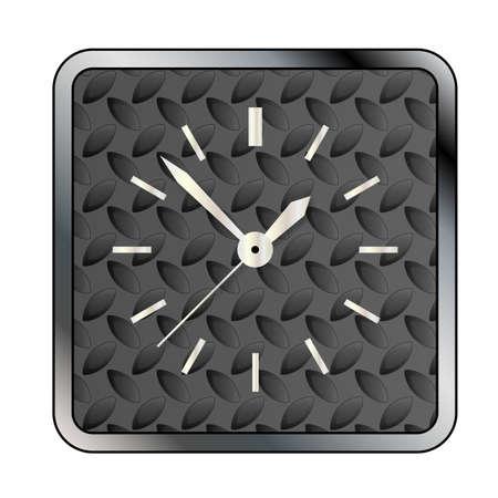 banda de rodamiento: Un modelo del fondo de rodadura de metal con una esfera de reloj sobre blanco