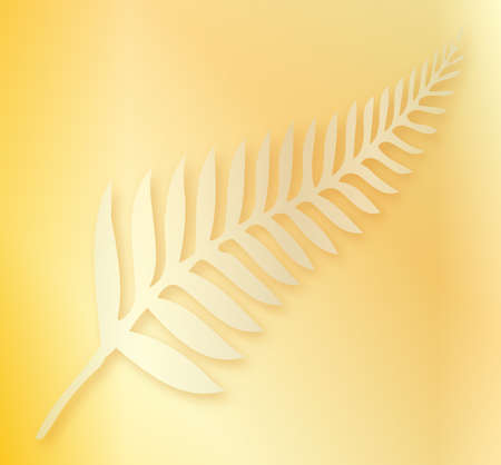 silver fern: Silhouette of a silver fern, a national emblem of New Zealand as a background