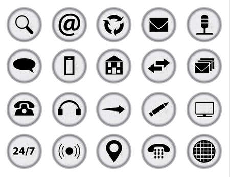 mobile telephone: Typewriter keys with inset web icons all over a white background