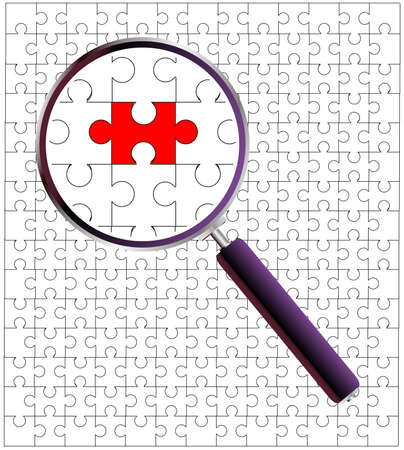 clear out: A jigsaw puzzle under the magnifying glass