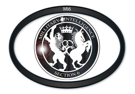 depiction: Oval metal button with a depiction of the MI6 horses
