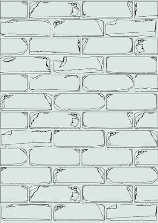 white brick: A white brick wall as a background image Illustration