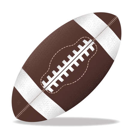 sewn: A typical american type foorball over a white background