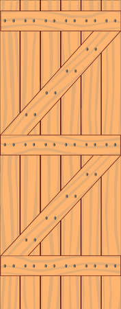 nailed: A pale timber Z style plank door Illustration