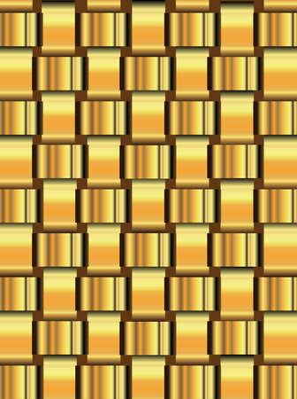 latticework: A background of latticework from gold ribbon over a dark background Illustration