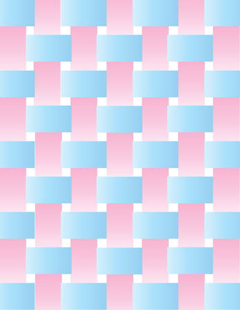 latticework: A background of latticework from pink and blue ribbon on white Illustration