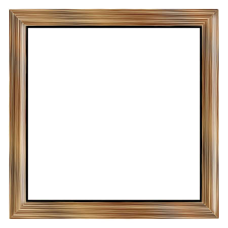 wood frame: A pale oak wood picture frame over a white background