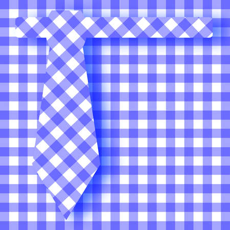gingham: The pattern of a blue gingham tie background ove the same pattern