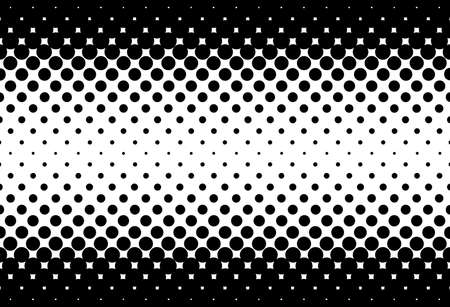 half tone: A half tone image with black dots set against a white and black background.