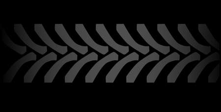 tire imprint: Tractor tyre marks isolated over a black background