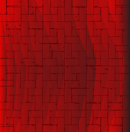 oblongs: A wooden parquet flooring patternin red as a background.