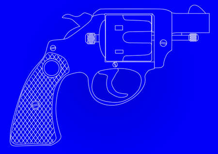 handgun: A snub nose handgun as used by police forces as a blueprint