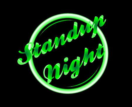 florescent light: standup night florescent light over a black background