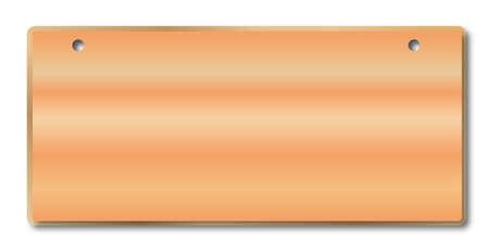 2 つの固定穴と白地に淡い針葉樹記号  イラスト・ベクター素材