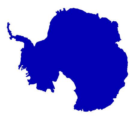 carte Silhouette de l'Antarctique sur un fond blanc