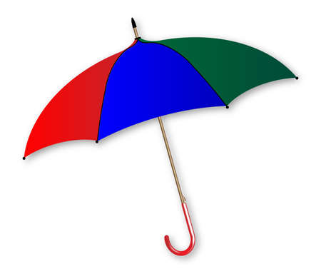 brolly: A colorful umbrella over a white background Illustration