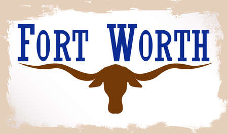 adopted: The flag as adopted by the city of Fort Worth Illustration