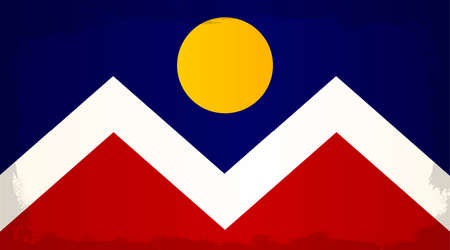 denver colorado: The flag as adopted by the city of Denver Illustration
