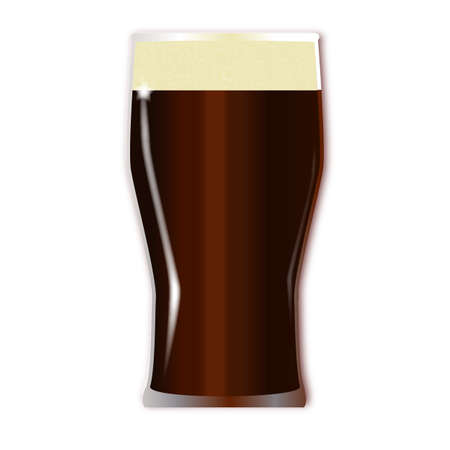 stout: A traditional tall one pint beer glass