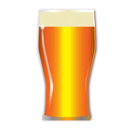 pint: A traditional tall one pint lager glass