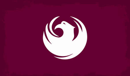 adopted: The flag as adopted by the city of Phoenix Illustration