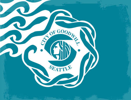 the emerald city: The flag as adopted by the city of Seattle Illustration