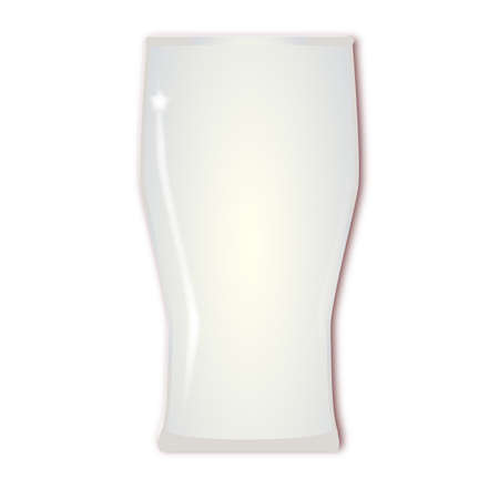 pint: An empty traditional tall one pint beer glass Illustration
