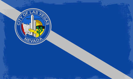 las vegas city: The flag as adopted by the city of Las Vegas Illustration