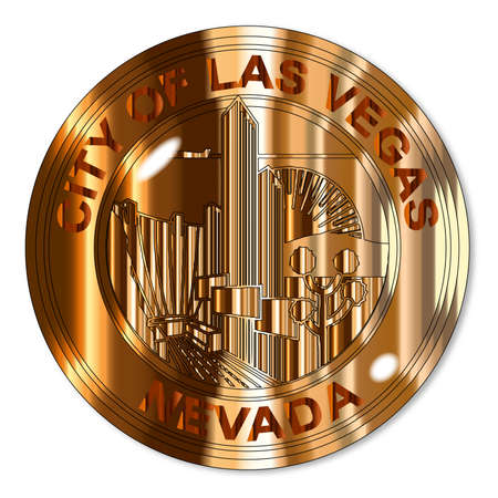 las vegas city: The seal of the city of Las Vegas Illustration