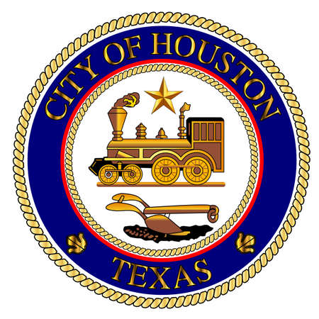 houston: The seal as adopted by the city of Houston
