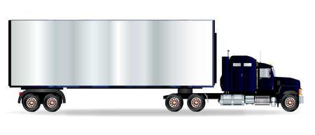 ciężarówka: Czo dużej ciężarówki na białym tle