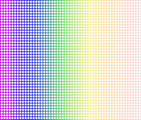 matrix: A rainbow dot matrix faded overlay over a white background Illustration