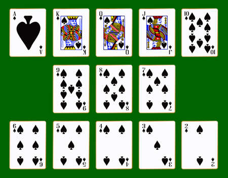 knave: The playing card in the suit of Spades