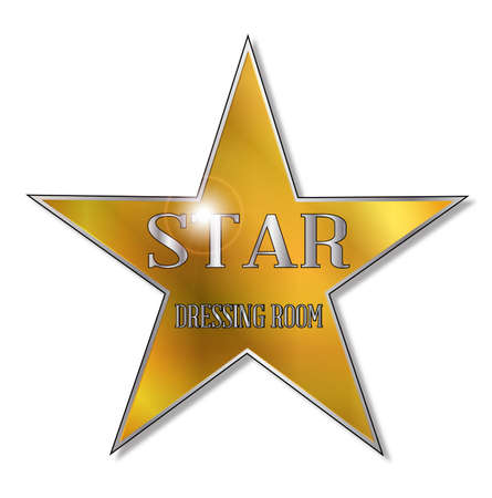 The star as found on the dressing room of the theatre Star act Vetores