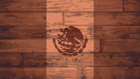 BRANDED: Mexican Flag branded onto wooden planks