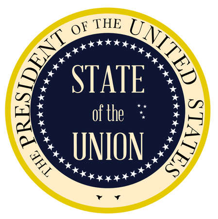 presidential: State of the Union button based upon the presidential seal of the United States of America