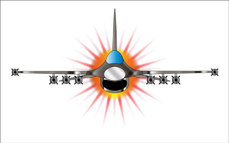 throttle: A depiction of a modern jey fighter blasting away at full throttle.
