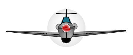 wwii: Early WWII fighter aircraft iver a white background Illustration