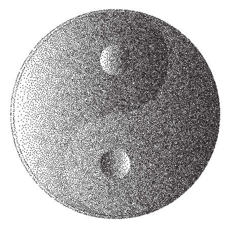 yang style: Yin and Yang sign in a dotter stipple style effect Illustration