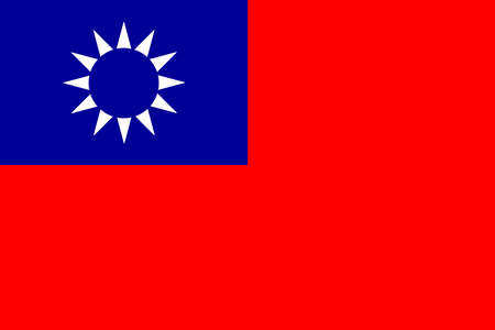 taiwanese: National flag of Taiwan in red white and blue
