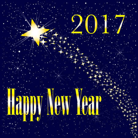 introducing: A rising star introducing a happy new year 2017 Illustration