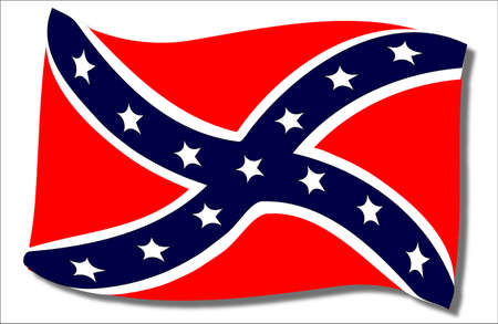 The flag of the confederates during the American Civil War