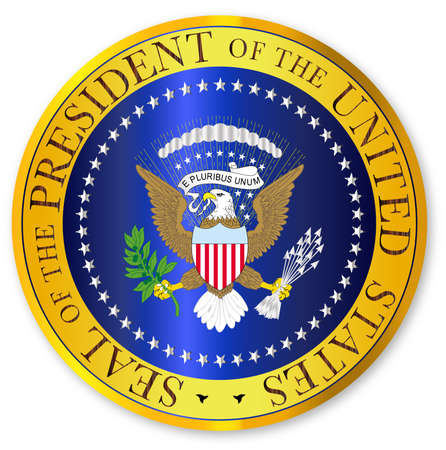 A depiction of the seal of the president of the United States of America